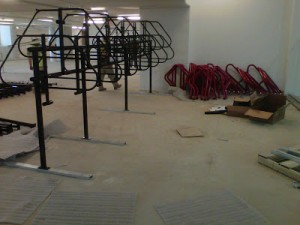 Bike Room under construction at Wiehle Metro (Courtesy FABB)