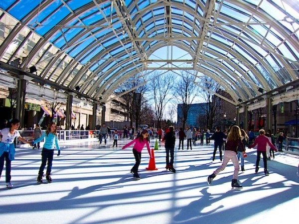 Skating at RTC /Photo Courtesy of Reston Town Center