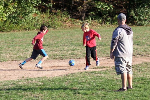 Pick up soccer in the park