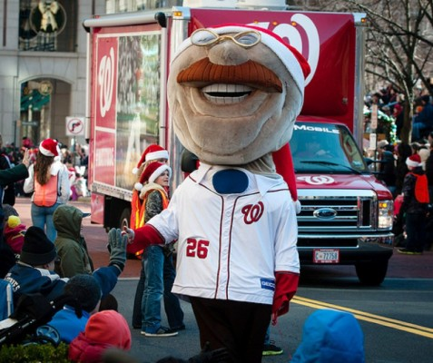 Teddy Roosevelt at Reston Holiday Parade/Photo: Mike Heffner