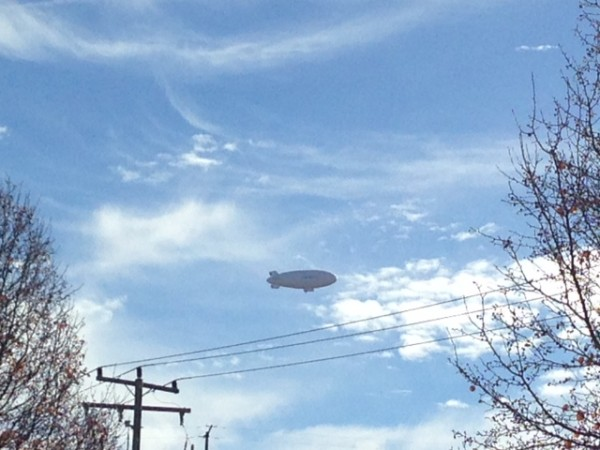 Blimp flying over Reston