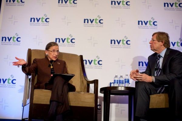 Ruth Bader Ginsburg at NVTC Event in Reston/Credit: David Kidd/NVTC