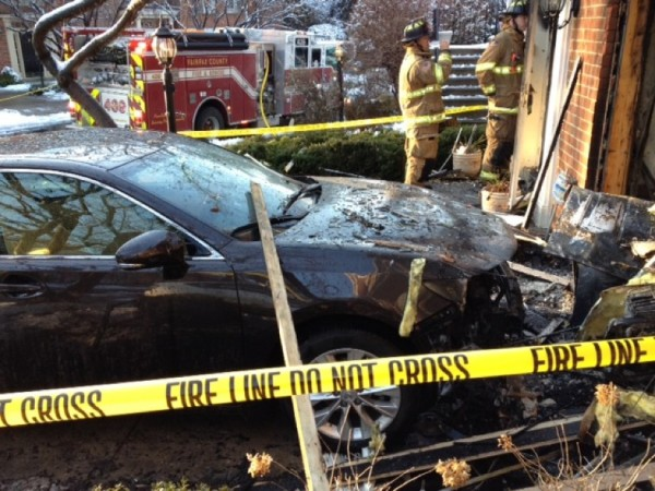 Car burned in fire on Summer House Court Tuesday/Credit: OurLoveProject