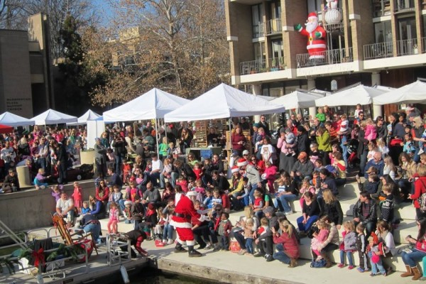 Santa at Lake Anne Plaza in 2012/Photo: Lake Anne Plaza