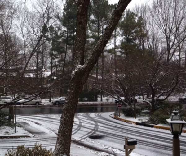 Snow in Reston on Dec. 8, 2013
