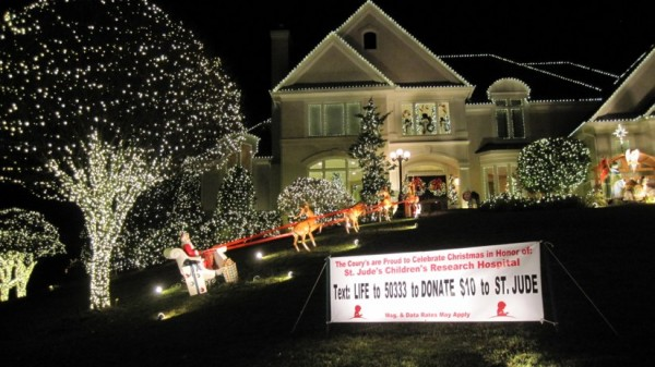 This house on Stone's Throw Drive in North Reston has one of the area's top light displays