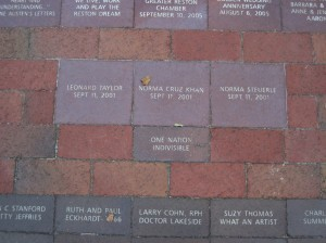 Commemorative bricks at Lake Anne Plaza/Credit: Fairfax County