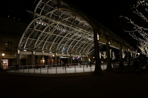 Reston Town Center Skating Pavilion at night