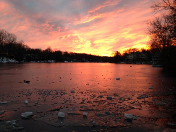 Sunset over Lake Audubon/Credit: Jennifer Burke