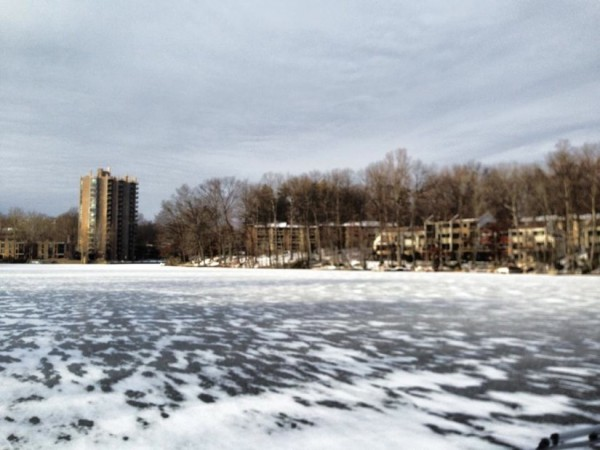 Frozen Lake Anne, Jan. 2014/Credit: David King via Facebook