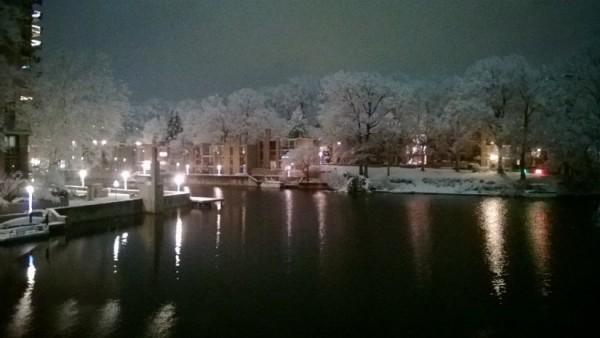 Snow at Lake Anne, Jan. 2 2014/Credit: Ken Knueven