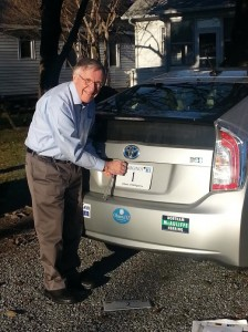 Ken Plum and his No. 1 license plate/Credit: Ken Plum