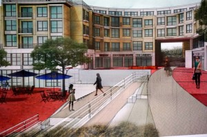 Plans for new building at Lake Anne Plaza