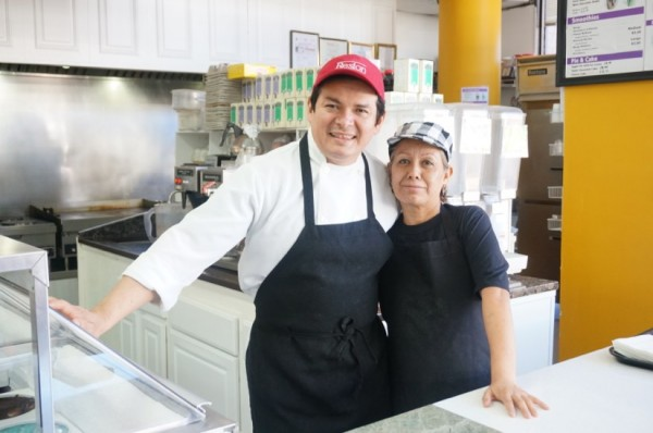 Cafe Lakeside owners Alfredo and  Rocio Melendez