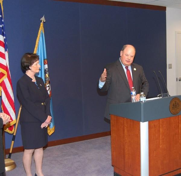 County Supervisor Sharon Bulova and County Executive Ed Long/Credit: Fairfax County