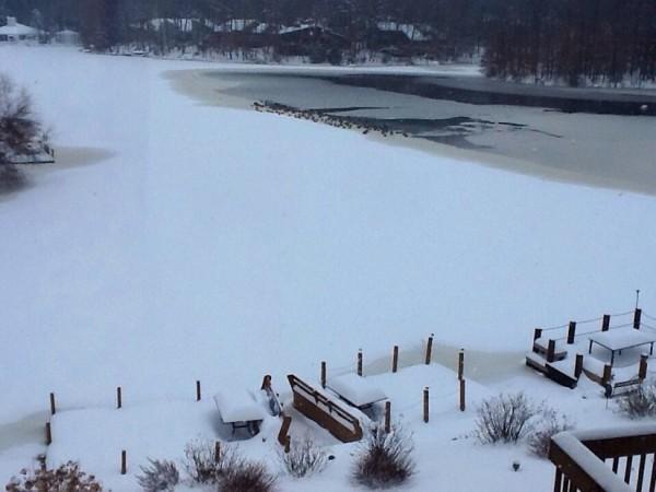Lake Thoreau on Feb. 13, 2014/Credit: Carole Burnett