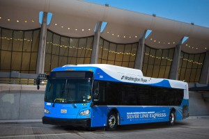 Rendering of Silver Line Express Bus/Credit: MWAA