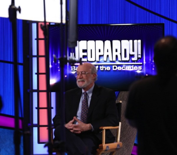 Mark Lowenthal on Jeopardy set/Credit: Jeopardy