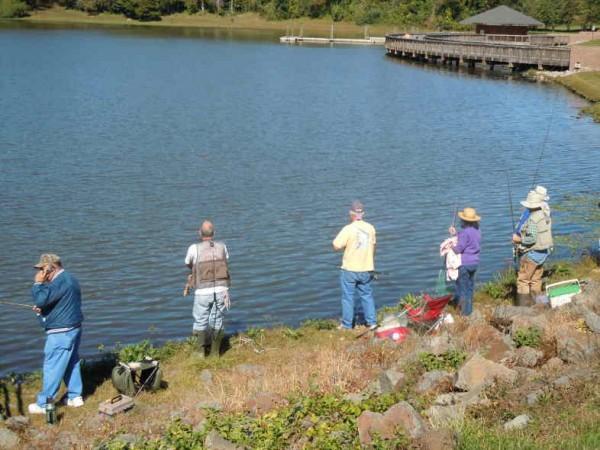 Trout fishing at Lake Fairfax