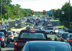 Traffic on Wiehle  Avenue/Credit: Reston 2020