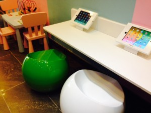 Tablet stations at Cold Spoon