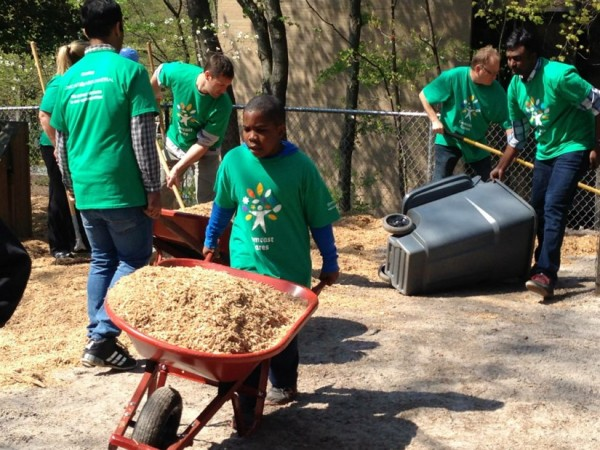 Comcast Employees Help Out at Laurel Learning Center/Credit: Cornerstones