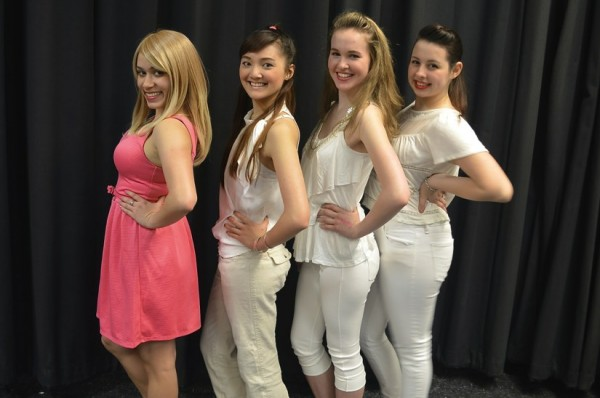 "Megan DiSisti (pink dress) stars as Elle Woods in SLSH' ""Legally Blonde""/Credit: SLHS"