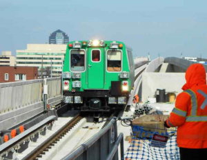 Testing the  Silver Line near Tysons/File photo by MWAA