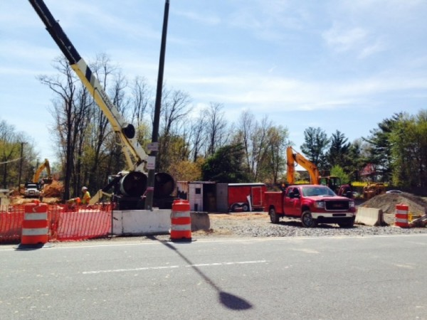 Construction work at Reston South Park and Ride