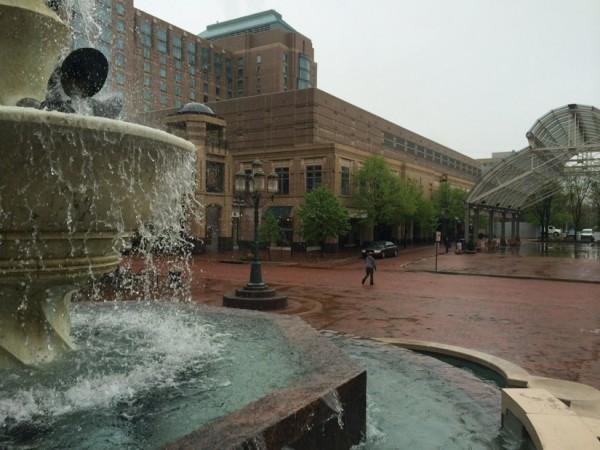 Rain in Mercury Fountain at Reston Town Center/Credit: RTC