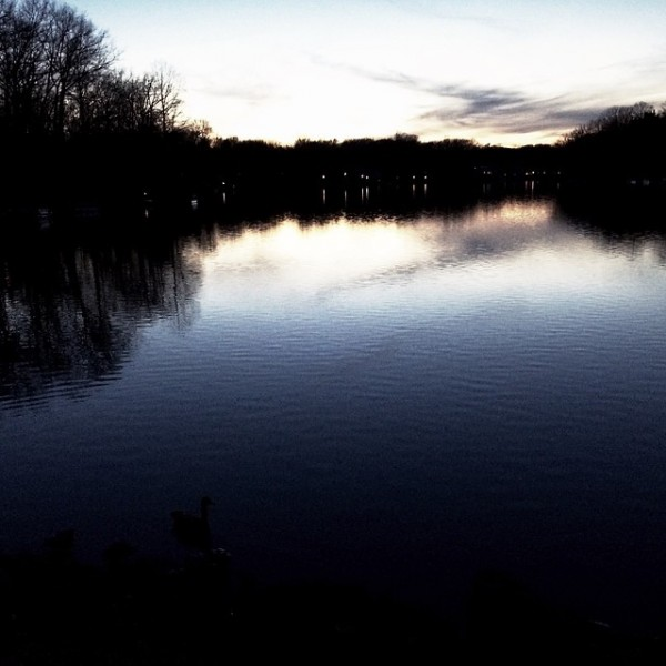 Sunset on Lake Anne/Credit: Mark Toner