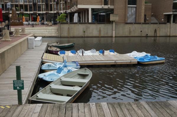 Boats at Lake Anne Plaza