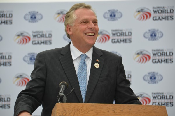 Gov. Terry McAuliffe in honorary chair of the 2015 World Police and Fire Games/Credit:  Craig S. Luecke