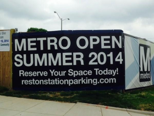 Sign at Reston Station