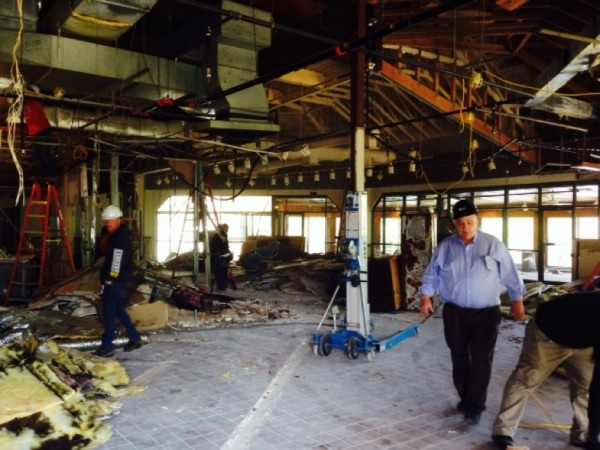 Renovating the former Lakeside Inn space