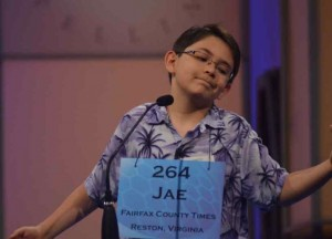 Jae Canetti from Hunters Woods ES at 2012 National Spelling Bee/File photo