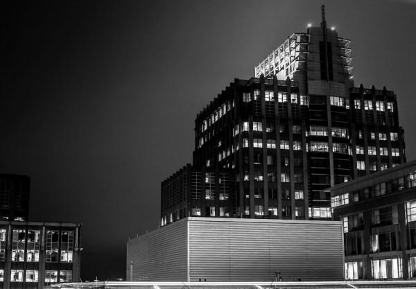 Reston Town Center at night/Credit:  Vico Melo via Reston Town Center