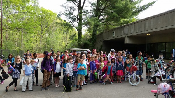 Bike to School Day 2014/Credit: Terraset PTA