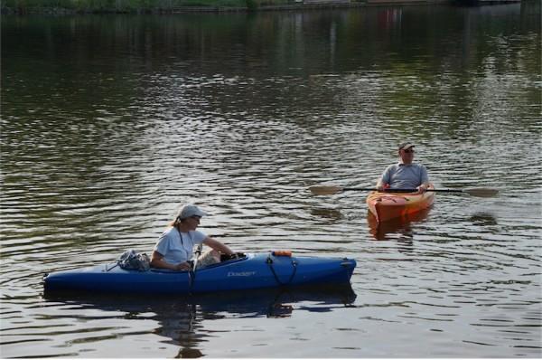 Kayakers on Lake Thoreau