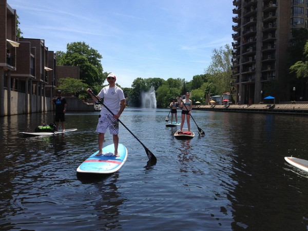 Paddleboarding at Lake Anne/Credit: Surf Reston via Flickr