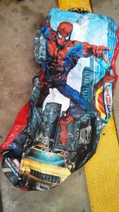 Spiderman buoyont bag found on Potomac/Credit: MCPD