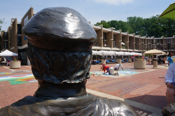 Bronze Bob's view of Lake Anne Plaza