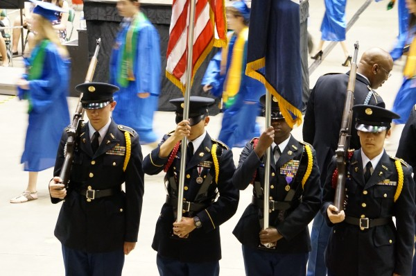 South Lakes Color Guard at 2014 Commencement