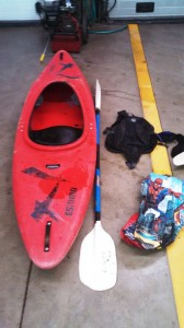 Kayak and supplies found by police/Credit: MCPD
