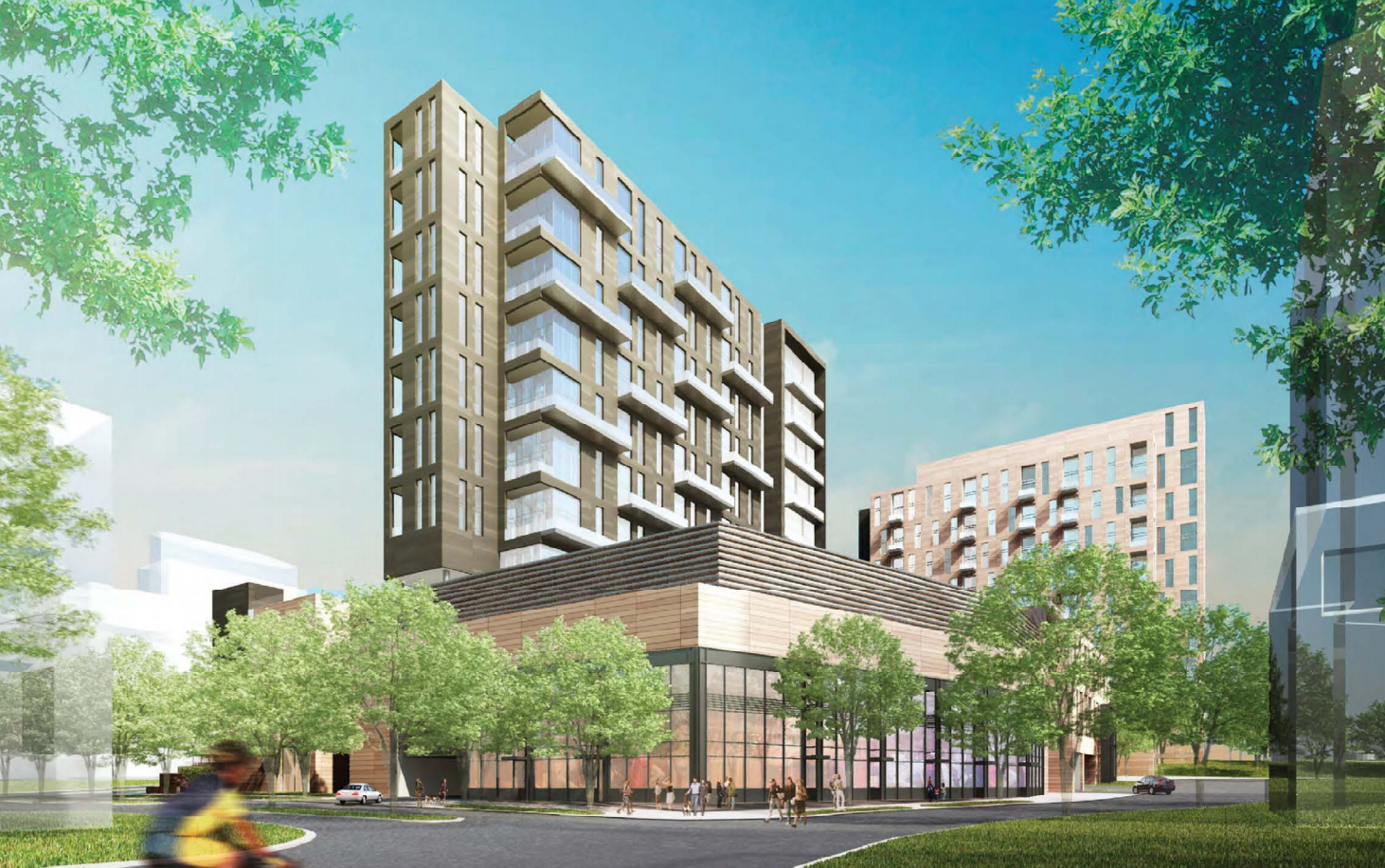 Update reston town center block 4 project gets green for Center block house