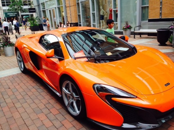 Luxury cars at Reston Town Center