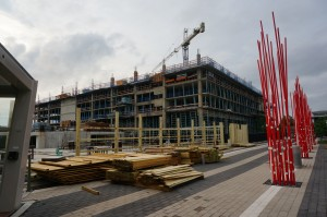 BLVD Apartments under construction at Reston Station