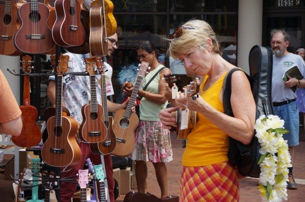 Shopping at the Lake Anne Ukulele Festival