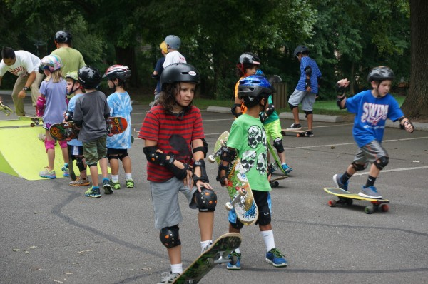 Campers at RA's Skate Camp