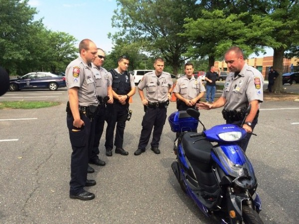 Fairfax County Police undergo motorbike safety training/Credit: FCPD